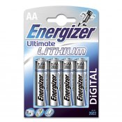 ENERGIZER Batteri AA/LR6 Ultimate Lithium 4-pack