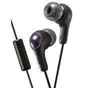 JVC Hörlur Gumy Plus In-Ear Mic Svart