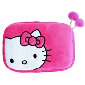 HELLO KITTY Tablet Sleeve Rosa 7-8tum Universal Plysch