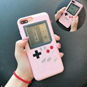 Retro spelkonsol med spel som mobilskal till iPhone 6 7 8 Plus - Rosa 9980968ad2f11