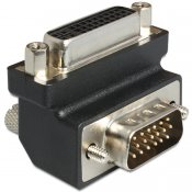Adapter dvi 24+5 pin female to vga 15 pin male 90