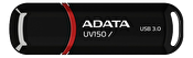 ADATA UV150 USB minne, 128GB, USB 3.0, svart