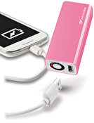 CellularLine USB Pocket Charger, PB , 3000mAh, 1x USB 5V 1A, Rosa