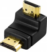 DeLOCK HDMI-adapter, 19-pin ha till ha, vinklad