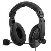 DELTACO USB stereo headset, 40 mm element, 32 ohm, 20Hz-20kHz, svart