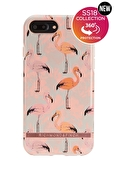 Richmond & Finch - Rosa flamingo med detaljer i guld till iPhone 6/7/8 Plus