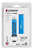 Kingston 16GB Keypad USB 3.0 DT2000, 256bit AES Hårdvaru krypterad