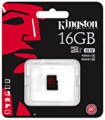 Kingston 16GB microSDHC UHS-I speed class 3 Single Pack w/o Adapter