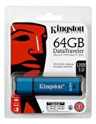 Kingston 64GB USB 3.0 DTVP30, 256bit AES Encrypted FIPS 197