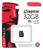 Kingston Minneskort 32GB microSDHC UHS-I Class 10 Industrial