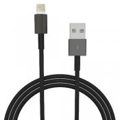 Lightning USB-kabel, 2m - svart
