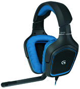 Logitech G430 Surround Gaming Headset, 3,5mm, USB, blå/svart