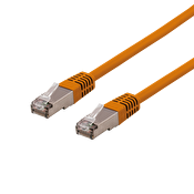DELTACO S/FTP Cat6 patchkabel, delta cert, LSZH, 0,3m, orange