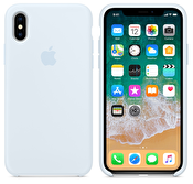 Apple iPhone X silikonskal i Himmelsblå färg