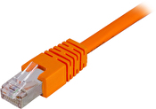 DELTACO F/UTP Cat6 patchkabel, LSZH, 0.5m, orange