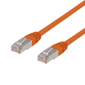 DELTACO F/UTP Cat6 patchkabel, 1,5m, 250MHz, Delta, LSZH, orange