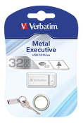 Verbatim store 'n' Go Metal Executive Silver USB 2.0 Drive 32GB