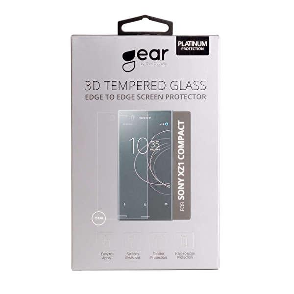 GEAR Härdat Glas 3D Sony Xperia XZ1 Compact Edge to Edge Transparent
