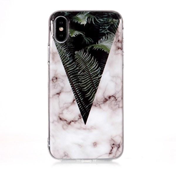 Marmorskal med växter till iPhone XS/X