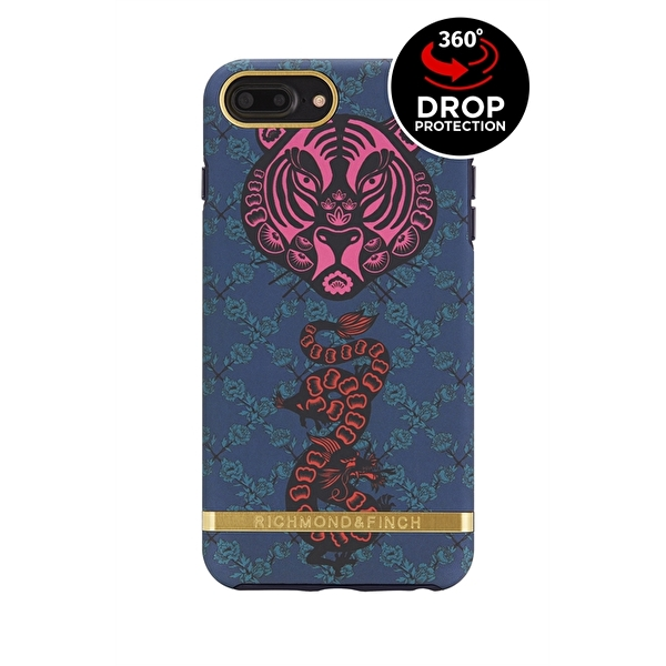 Richmond & Finch - Tiger & Drake med detaljer i guld till iPhone 6/7/8