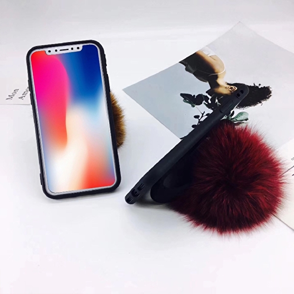 Fashioncase med plyschboll - iPhone X/XS
