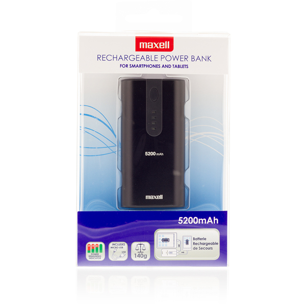 Maxell powerbank 5200mAh black