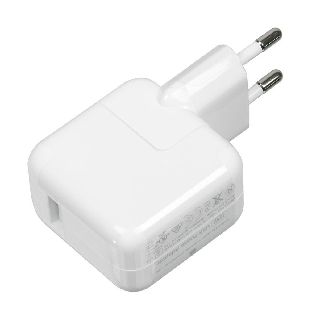 Apple 12W USB Strömadapter till iPad, iPhone i vit färg