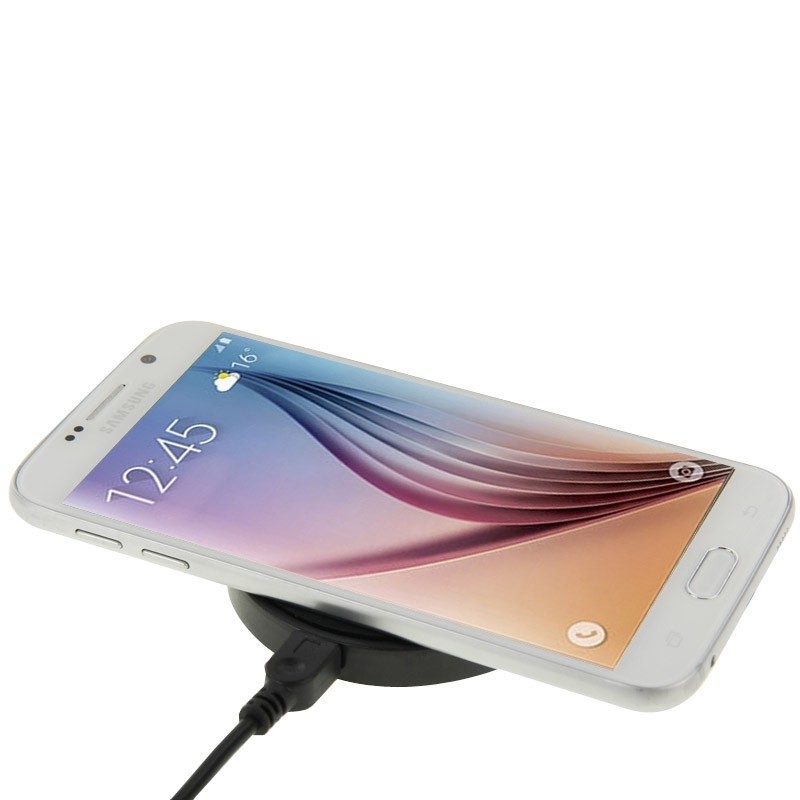 Qi laddare för iPhone Samsung, Nokia, HTC GråSvart